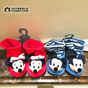 新品 香港迪士尼采购 <span class=H>米奇</span>米妮 <span class=H>婴儿</span>长款棉鞋学步鞋 可爱卡通<span class=H>鞋子</span>