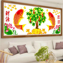 Rich Tree Cross-stitch Embroidery 2019 New Living Room Money Tree Over the Years Small Paintings of Fish
