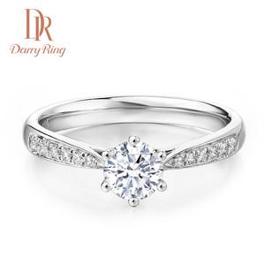 DRDarry Ring 戴瑞六爪群镶女戒钻戒求婚钻石经典戒指30分1克拉
