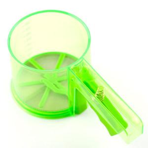 手握不锈钢塑料粉筛杯 杯式手动<span class=H>面粉筛</span>子筛网果汁过滤器