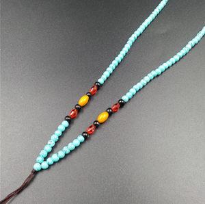 新款<span class=H>精品</span>6毫米圆珠绿松石<span class=H>项链</span>绳 吊坠绳 珠珠挂绳