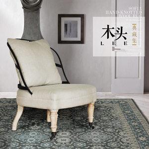 铁艺休闲单椅软包铁背椅子北欧简约风咖啡厅酒店美式乡村小<span class=H>沙发</span>