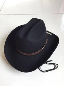 新品羊毛<span class=H>礼帽</span> 欧美原版牛仔帽 <span class=H>硬</span>顶纯西部毛呢大檐帽子